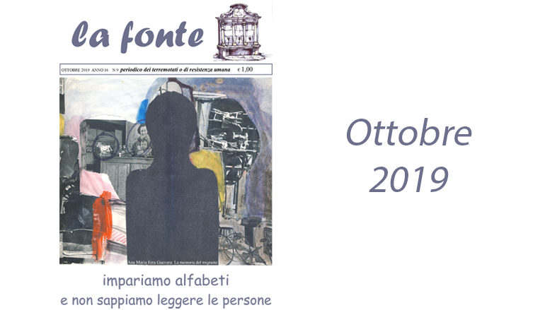 Indice del numero 165 – Ottobre 2019