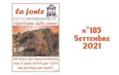 Indice del numero 185 – Settembre 2021